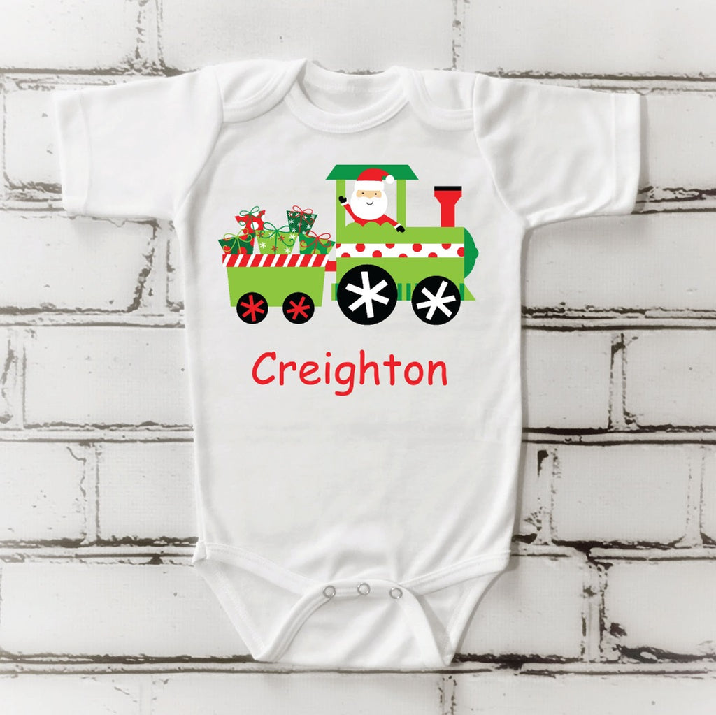 os16 Santa Train Onsie