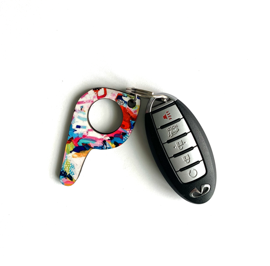bp18 Painterly Button Pusher Key Chain