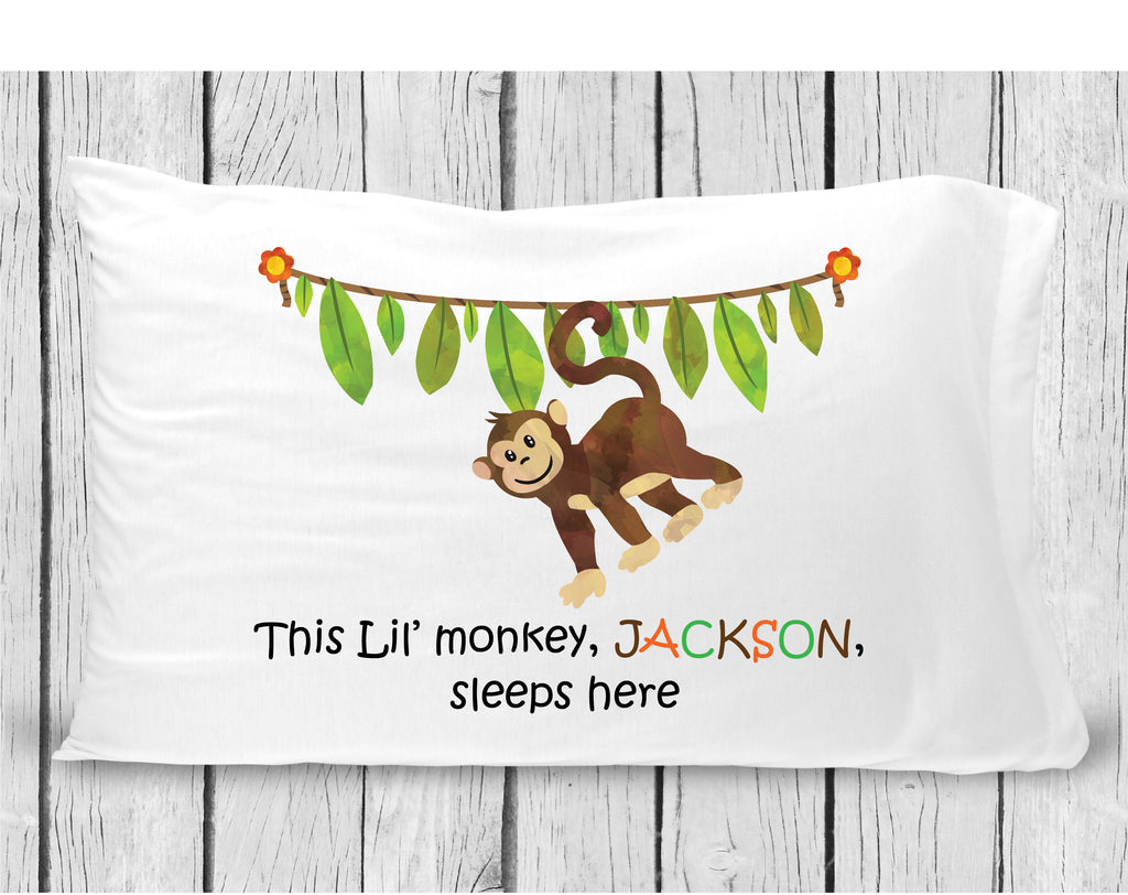 pc11 Boy Monkey Pillowcase