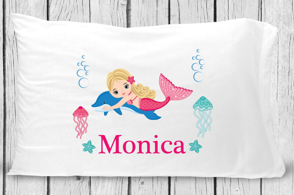 pc131-1 Blonde Mermaid Pillowcase