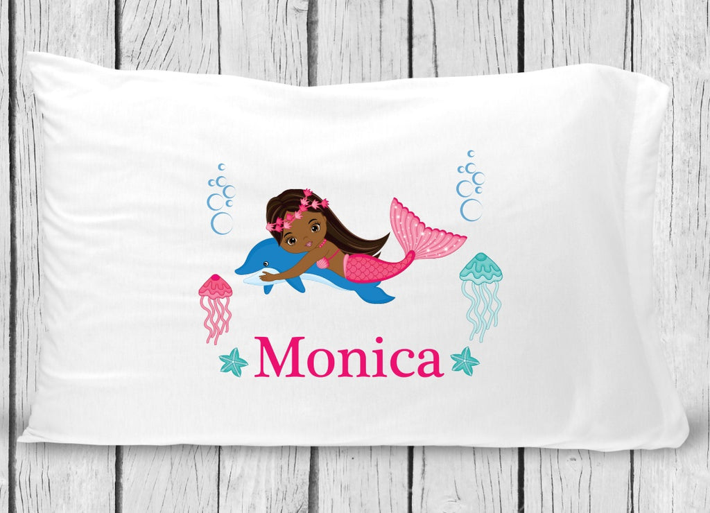 pc131-4 Black Mermaid Pillowcase