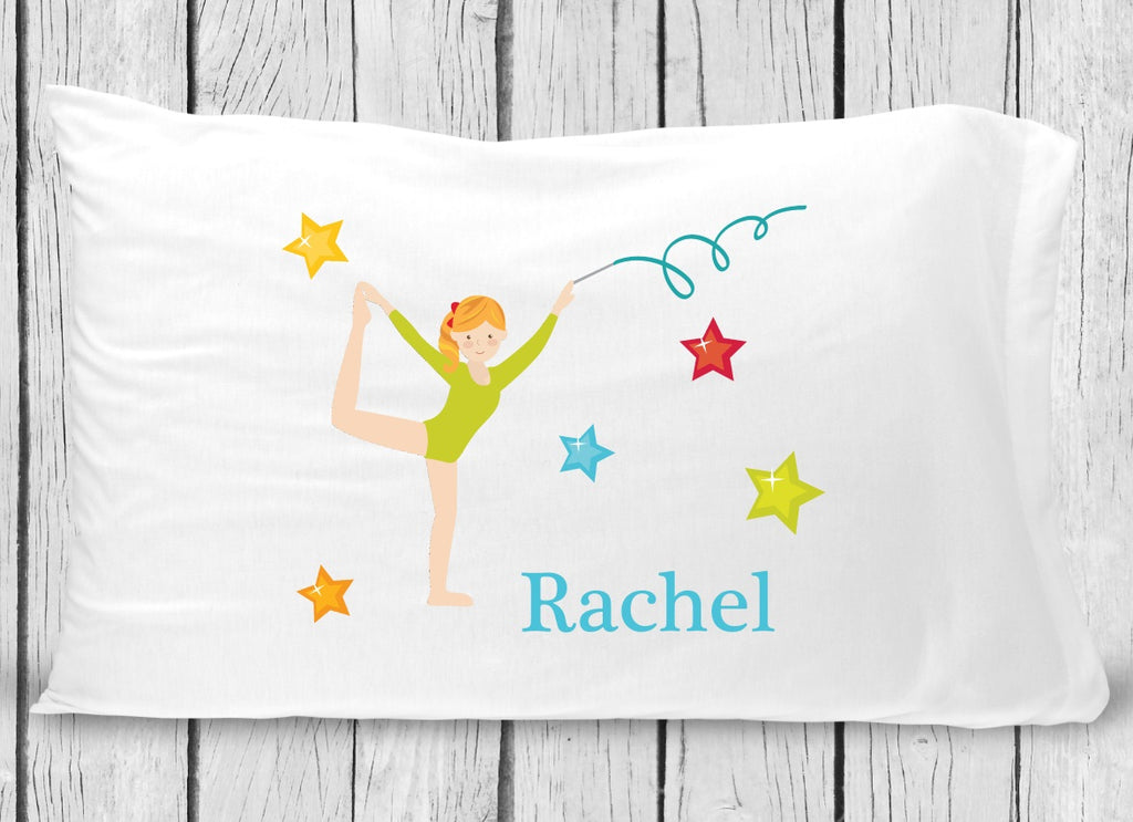 pc133-1 Blonde Gymnastics Pillowcase