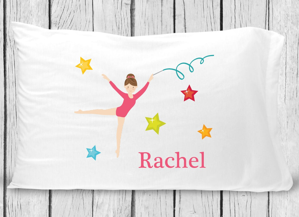pc133-3  Light Brown Hair Gymnastics Pillowcase