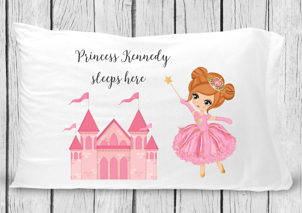 pc18-c Brown Hair Princess Pillowcase