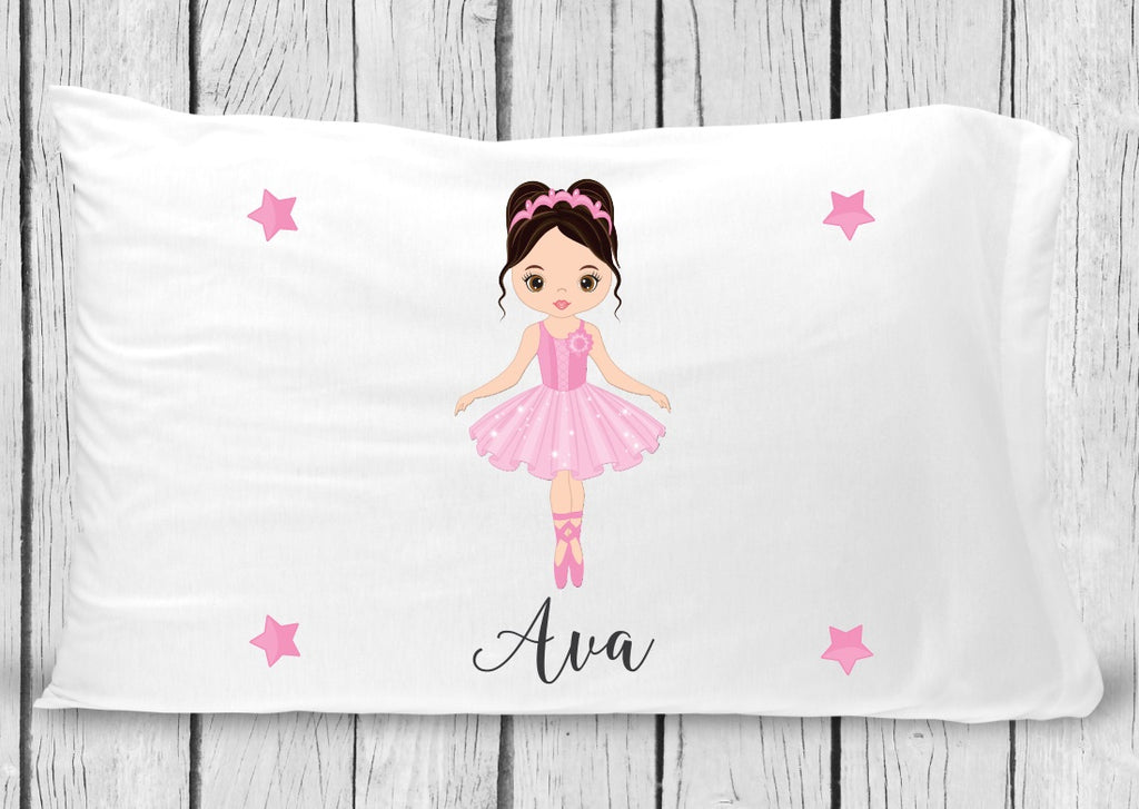 pc24-3 Ballerina black hair Pillowcase