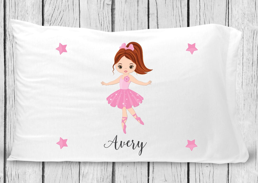 pc24 Ballerina brown hair Pillowcase