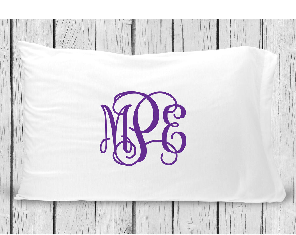 pc32 Purple Monogram Pillowcase