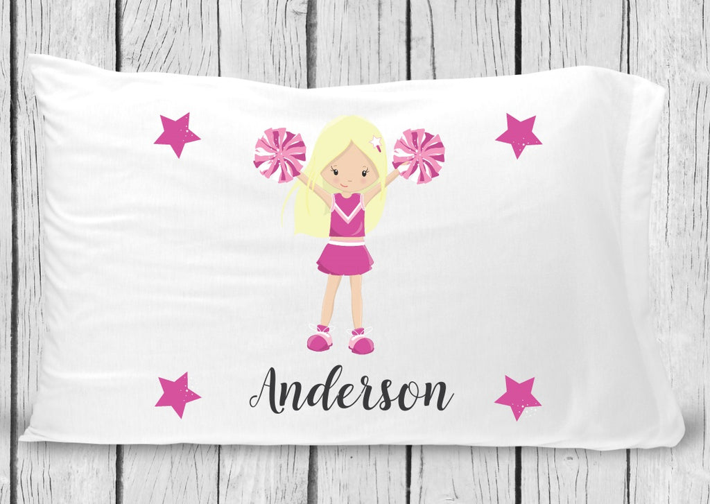 pc33 Blonde Cheerleader Pillowcase