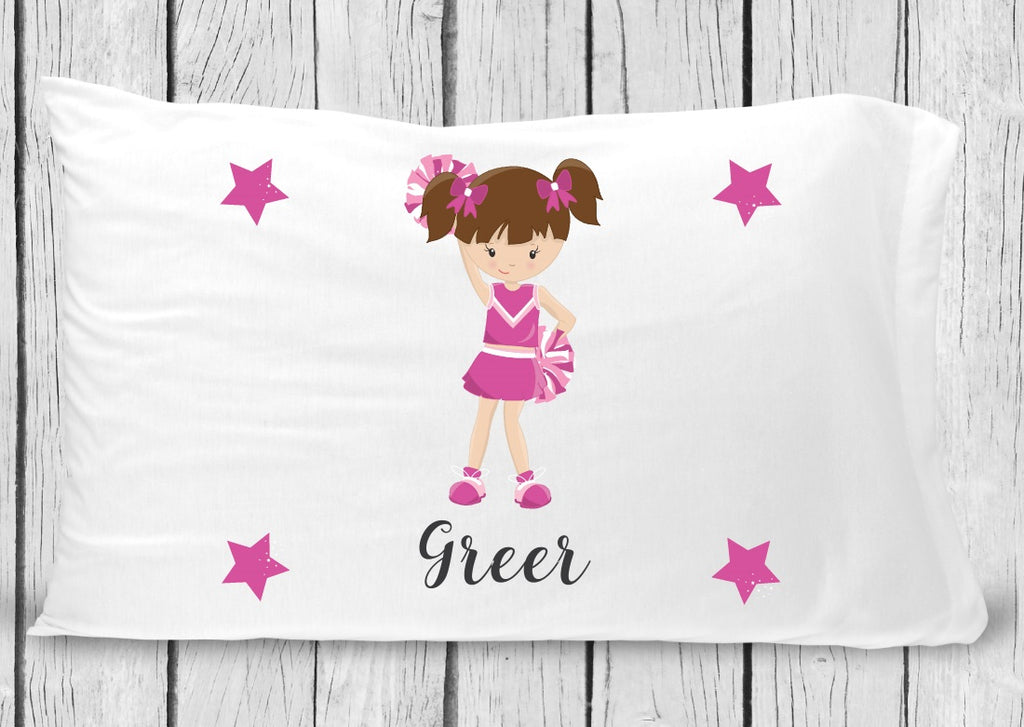 pc34 Cheerleader Brown Hair Pillowcase