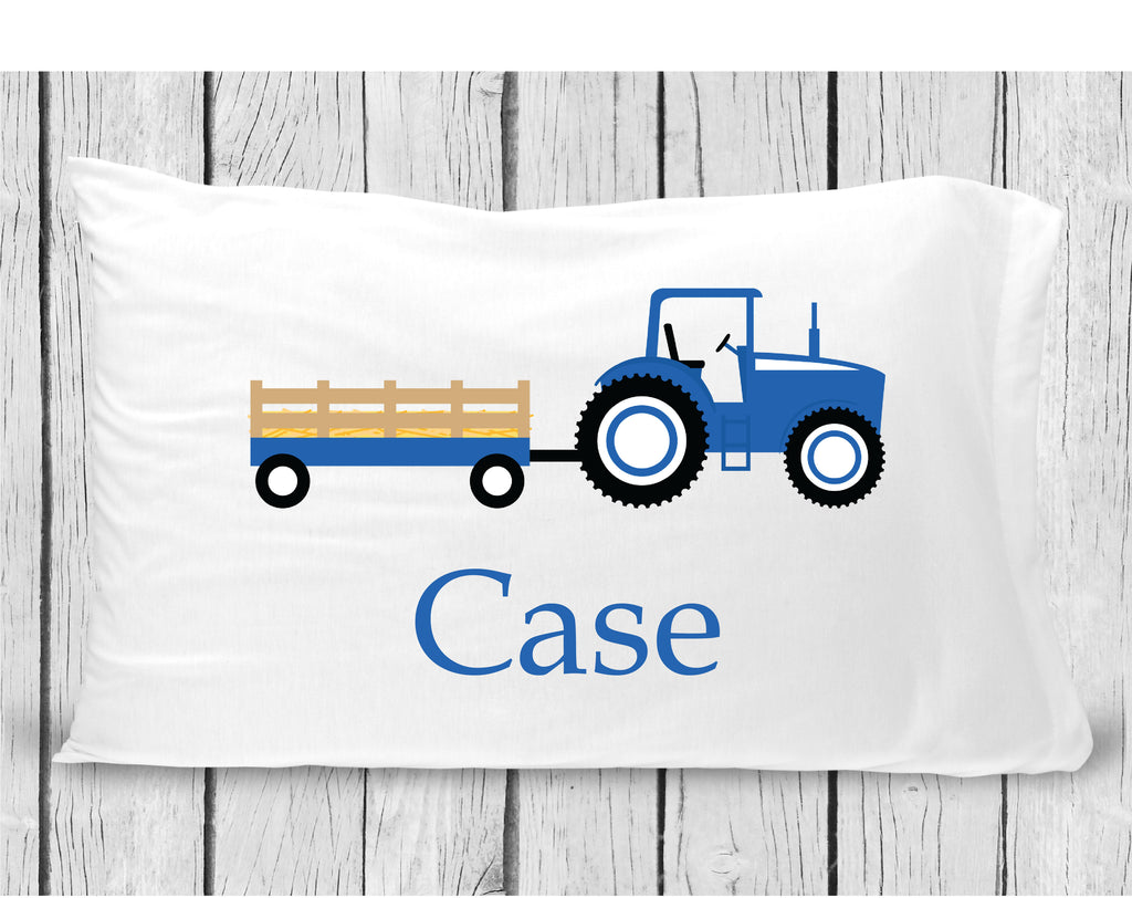 pc37 Blue Tractor Pillowcase