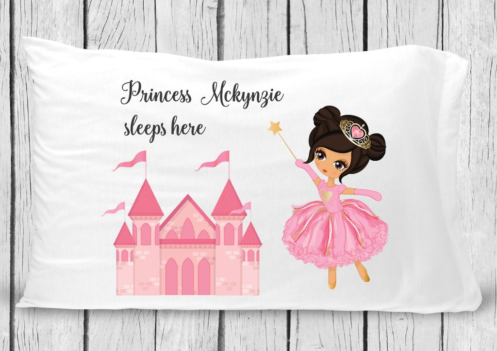 pc43 Princess Black Hair Pillowcase