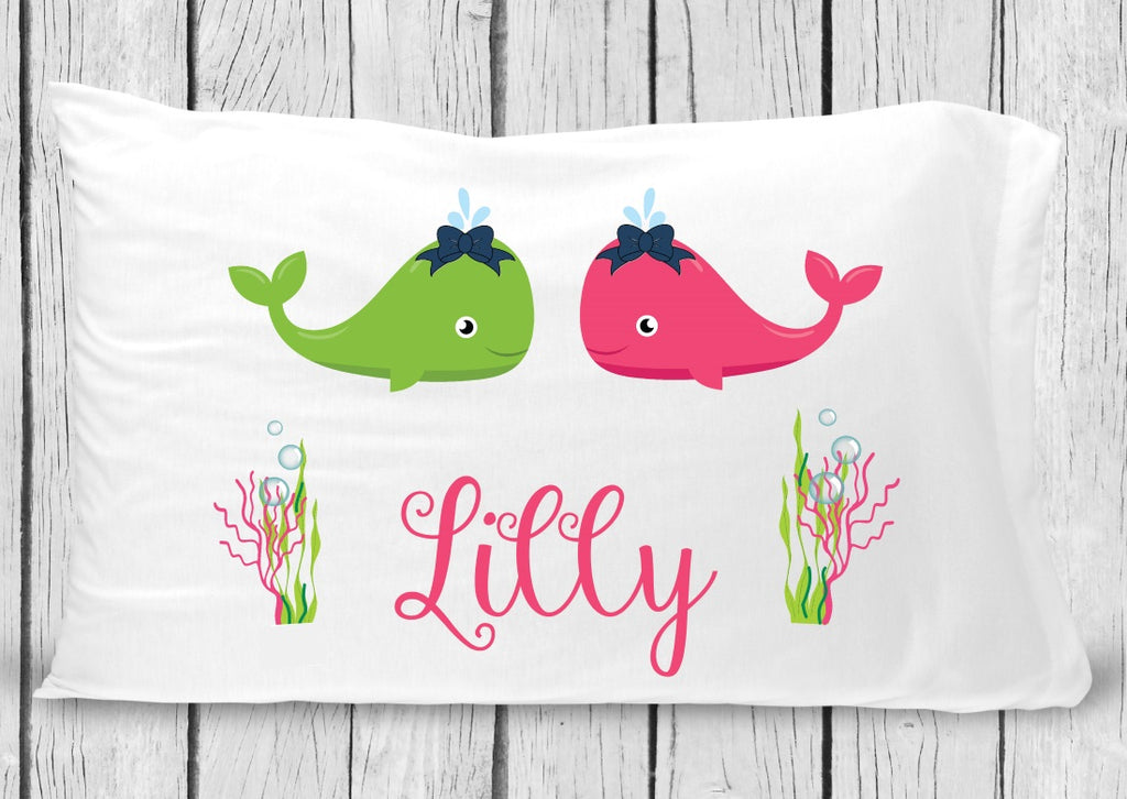 pc47 Girl Whale Pillowcase