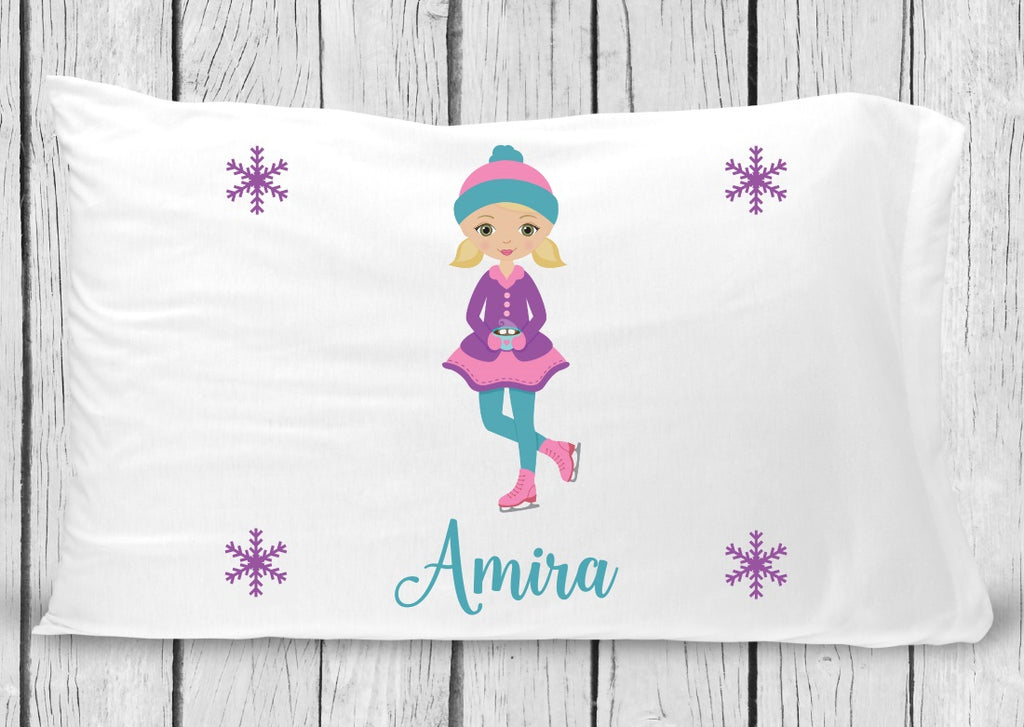 pc49 Blonde Ice Skater Pillowcase