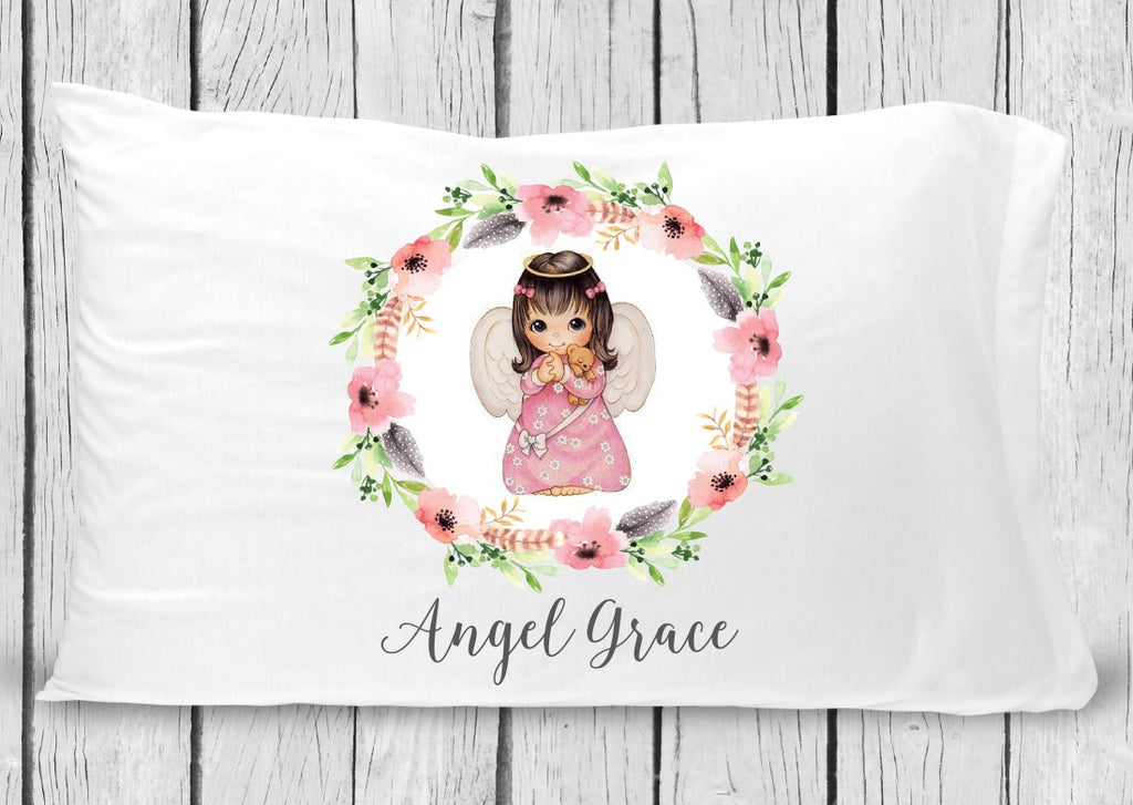 pc53 Brown Hair Angel Pillowcase