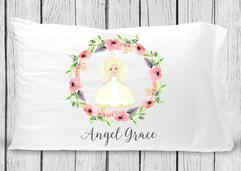 pc54 Blonde Hair Angel Pillowcase