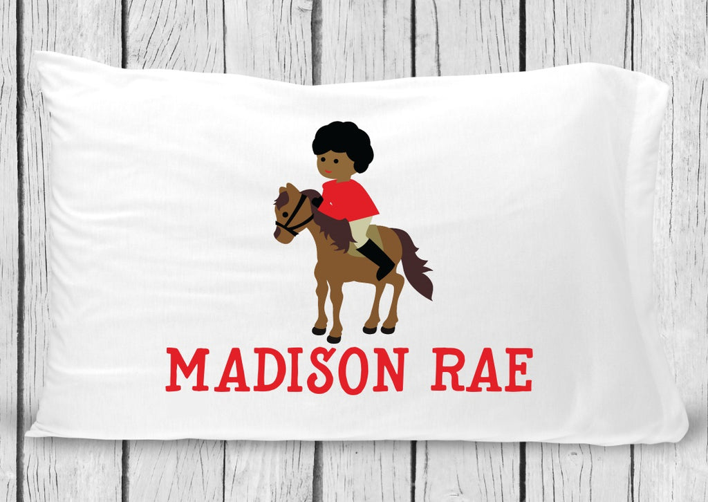 pc64 Black Horse Rider Pillowcase