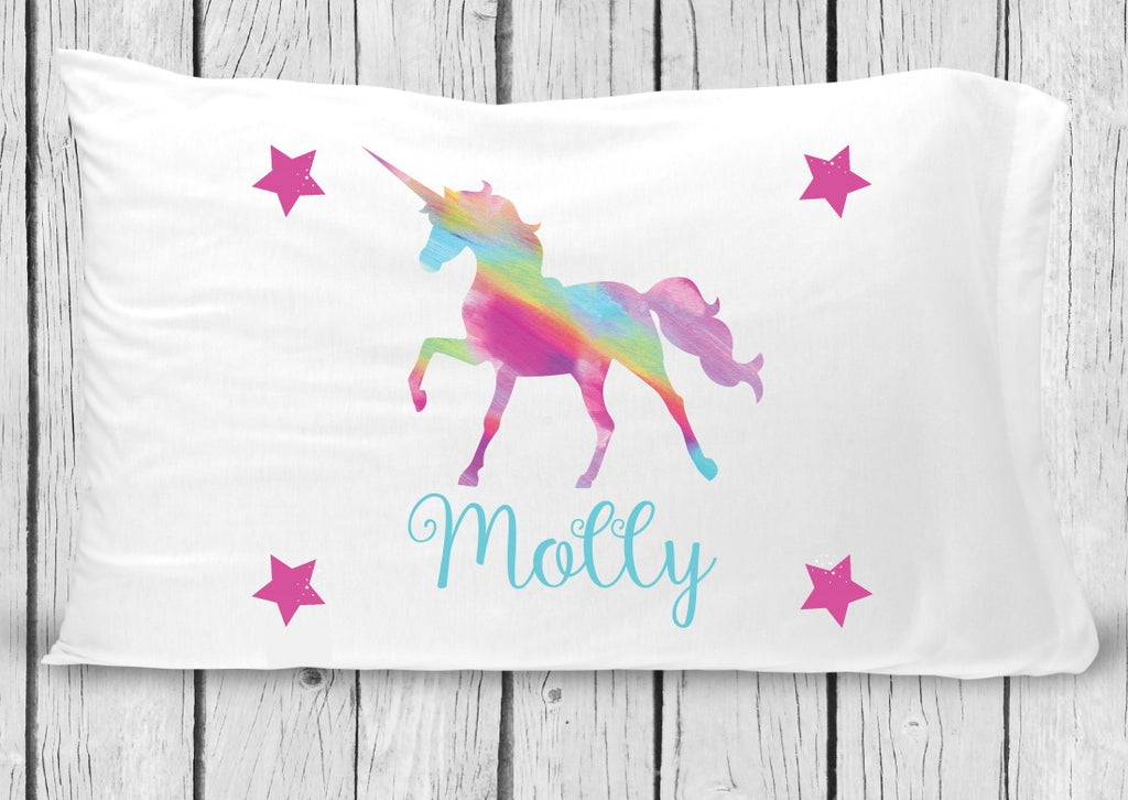 pc79 Rainbow Unicorn Pillowcase