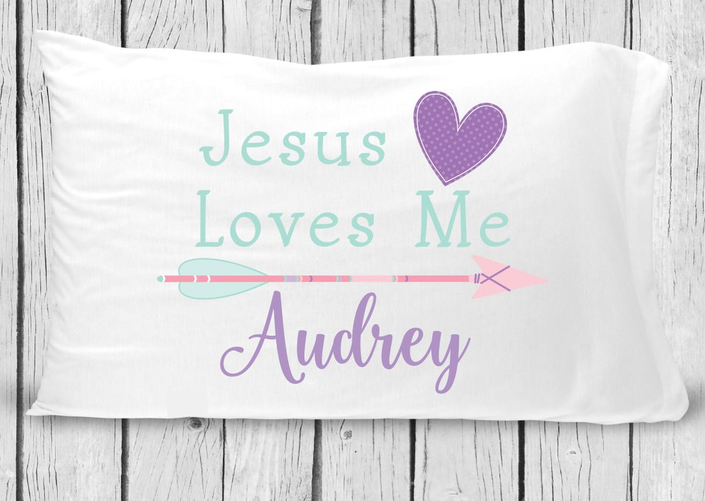 pc81 Jesus Loves Me Pillowcase