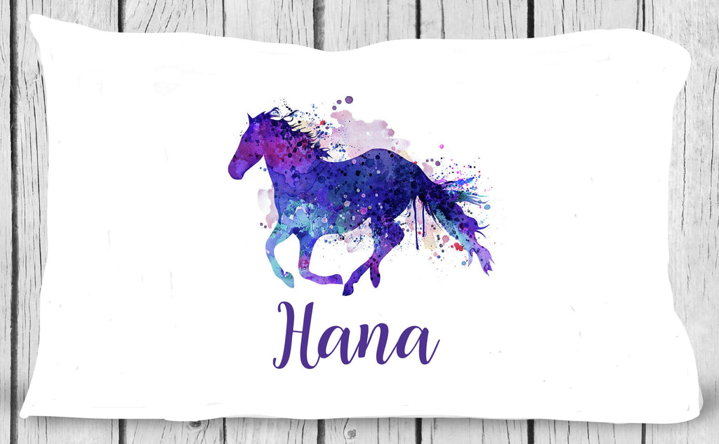 pc84 Watercolor Horse Pillowcase