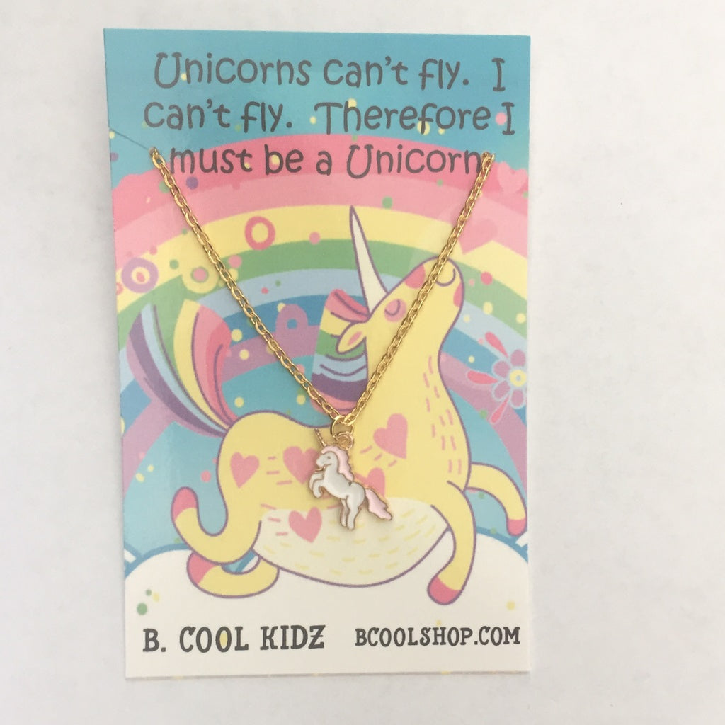 gcn02 Unicorn Charm Necklace