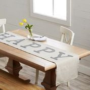 Happy Applique Table Runner