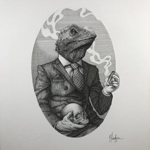 'Illuminarti Lizard' - Original Drawing 1/1