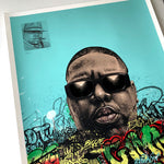 BIGGIE 'HAND EMBELLISHED' REGULAR SCREENPRINT 1/1