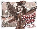 Pearl Jam Wrigley Field Chicago show poster