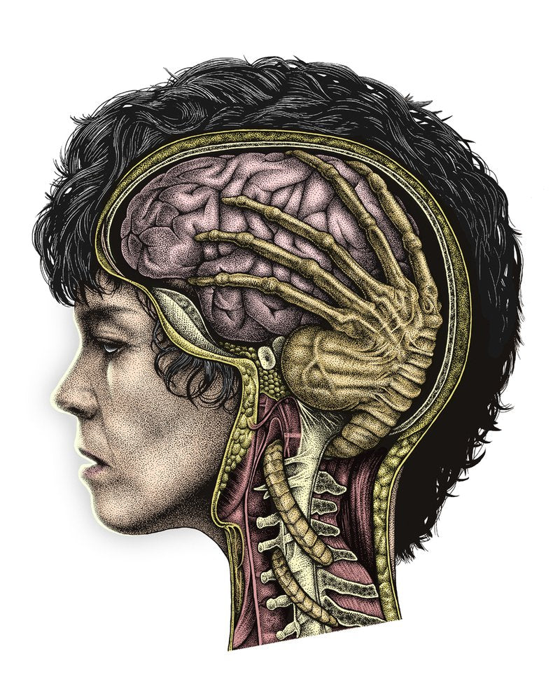 'ELLEN RIPLEY: BRAIN PARASITE' - COLOUR EDITION GICLEE