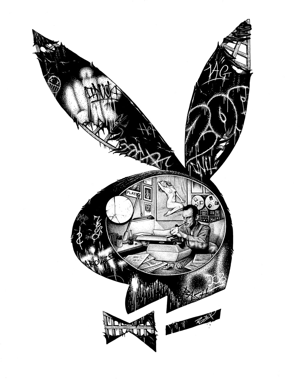 'Playboy' Giclee archival print
