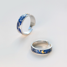 Van Gogh inspired design jewelry | The Starry Nigh Rings