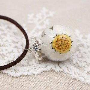 Handmade Flower Ball Necklace