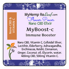 Load image into Gallery viewer, 400mg Nano CBD Flower Power MyBoost - THC free (Select drop down Buy 2 for 20% savings)