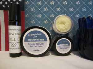 *15% SAVE* 3 items Pain topical Triple Cooling THC free