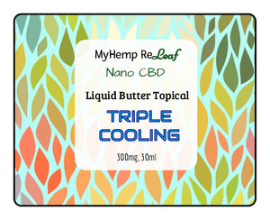 NANO CBD Butter Cream Liquid Cool 300mg THC Free