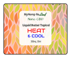 NANO CBD Butter Cream Liquid Deep Heat & Cool w/Capsaicin 300mg THC Free