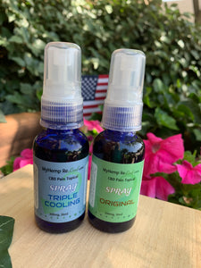 CBD Pain Relief Spray ORIGINAL, COOL 300mg THC Free (choose drop down Buy 2 Get 1 for 33% savings)