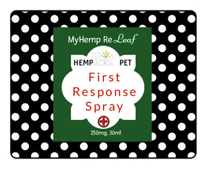 Pet First Response 1st Aid Topical Spray Hemp CBD THC Free