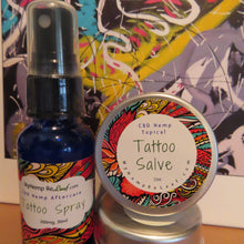 Load image into Gallery viewer, CBD Tattoo Spray & Tattoo Salve THC free (choose drop down for 22% savings)