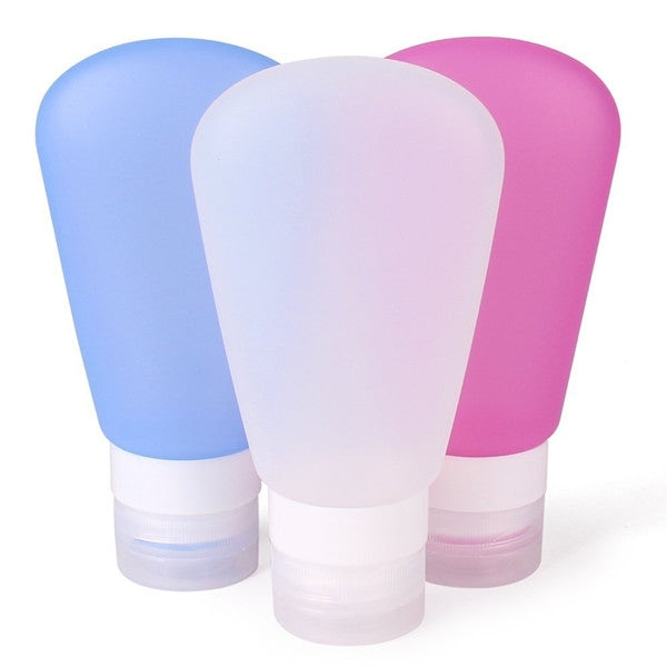 a11eb647be6d Portable Silicone Travel Bottles Empty Squeezable Lotion Shampoo