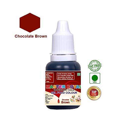 Master Royal BackNCook Tools Gel Food Flavours & Colours Concentrated  Edible Gel Food Color (Chocolate Brown)