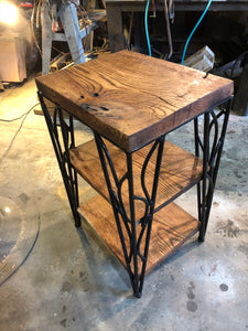 Corner Table with Shelves