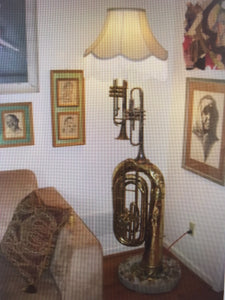 Musical Instruments Corner Lamp