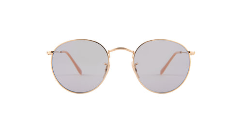 Ray Ban - RB3447 Gold Round Women Sunglasses - 50mm