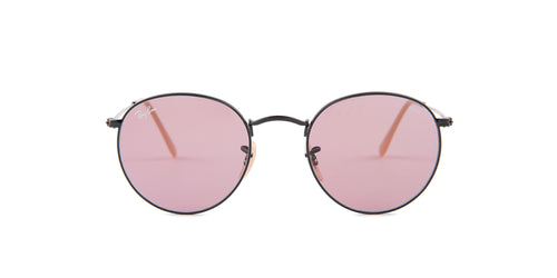Ray Ban - Round Metal Black/Pink Phantos Women Sunglasses - 50mm