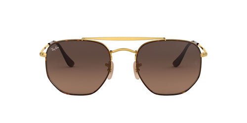 Ray Ban - The Marshal Havana/Brown Aviator Women Sunglasses - 54mm
