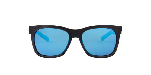 Costa Del Mar - Caldera Black/Blue Mirror Polarized Square Unisex Sunglasses