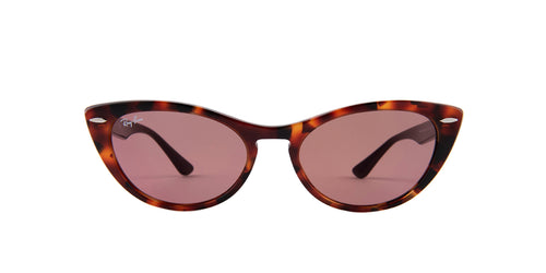 Ray Ban - Nina Havana Red/Violet Photochromic Cat Eye Women Sunglasses - 54mm