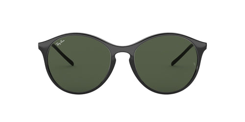 Ray Ban - RB4371 Black/Green Round Women Sunglasses - 55mm