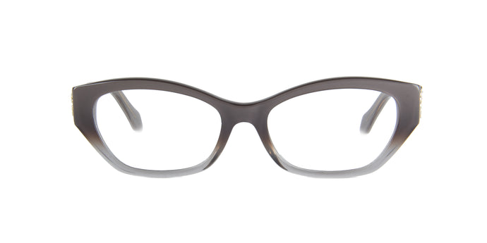Roberto Cavalli - Alkurhah 815 Grey to Crystal Rectangular Women Eyeglasses - 53mm
